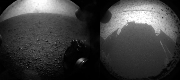 Mars Science Laboratory 'Curiosity' Landing Image